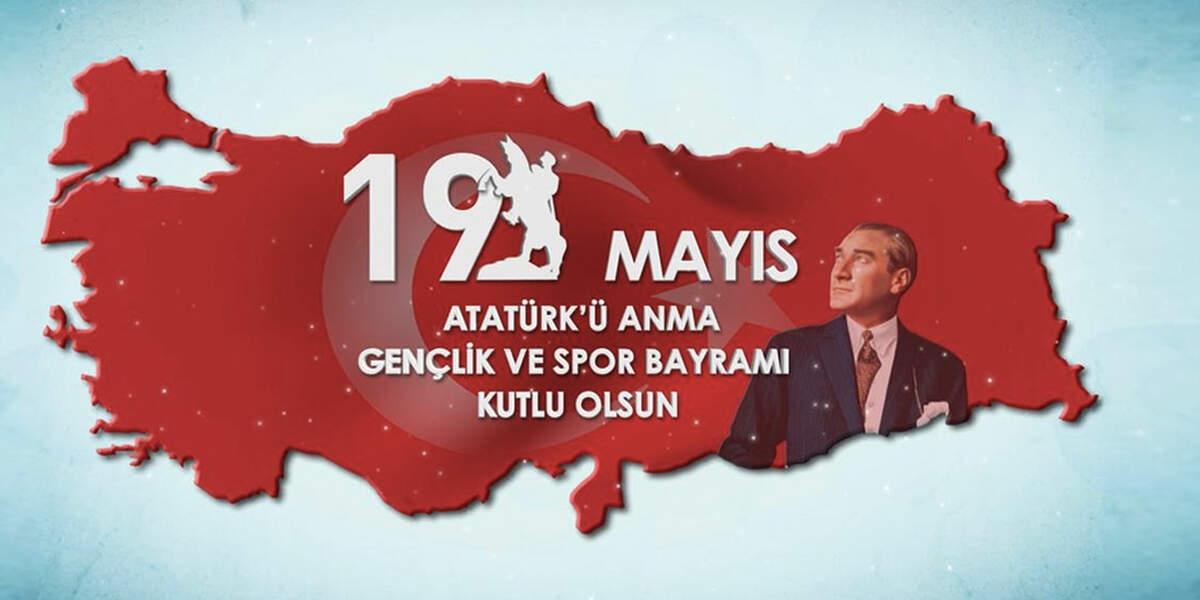 Türkiye haritası ve Atatürk