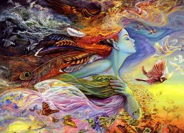 Josephine Wall'un The Spirit of Flight adlı eseri