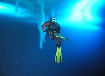 Ölüm sarkıtı brinicle yada su altı buz saçağı