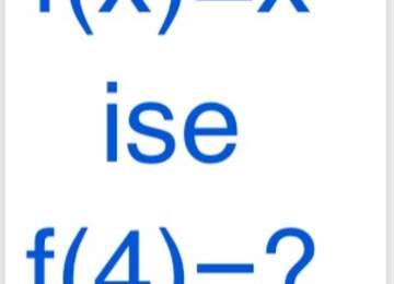 f(x) = x ise f(4)=?