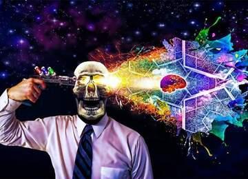 Modern insanı temsil eden bir fotoğraf