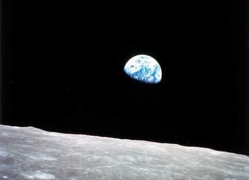 Ay'dan Dünya'nın batışı