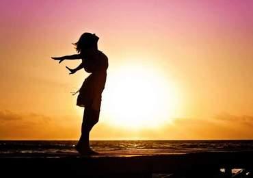 Silüet Fotoğrafı, Mutlu Kadın, Ters Işık