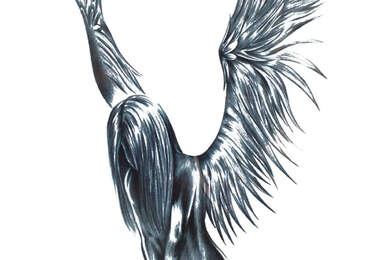melek kanatlı kız
