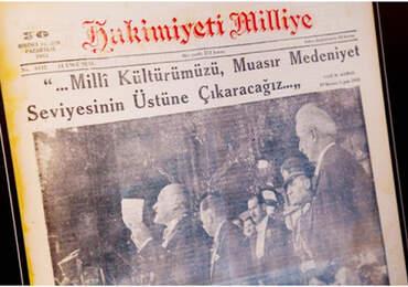 Hakimiyet-i Milliye Gazetesi'nin Mustafa Kemal Atatürk ile ilgili manşeti