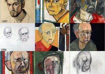Alzheimer olan bir ressamın çizimleri