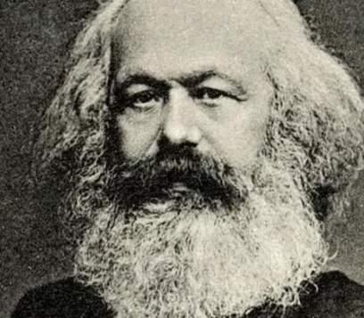 Karl Marx'ın resmi.