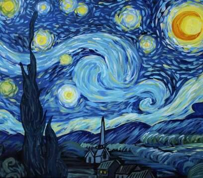 Van Gogh-Yıldızlı Gece