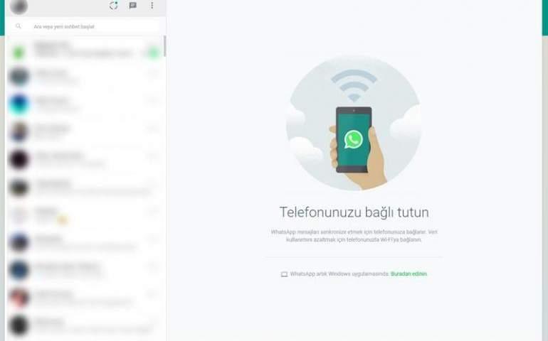 WhatsApp web ekran görüntüsü