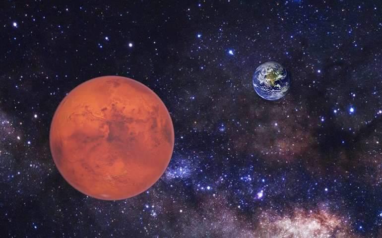 Mars, Dünyay'a en yakın konumda