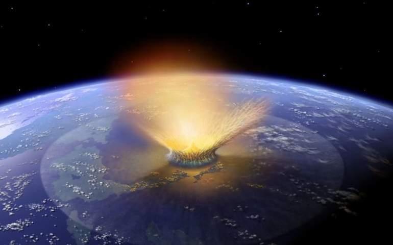 Meteor düşmesi ile ilgili tasvir