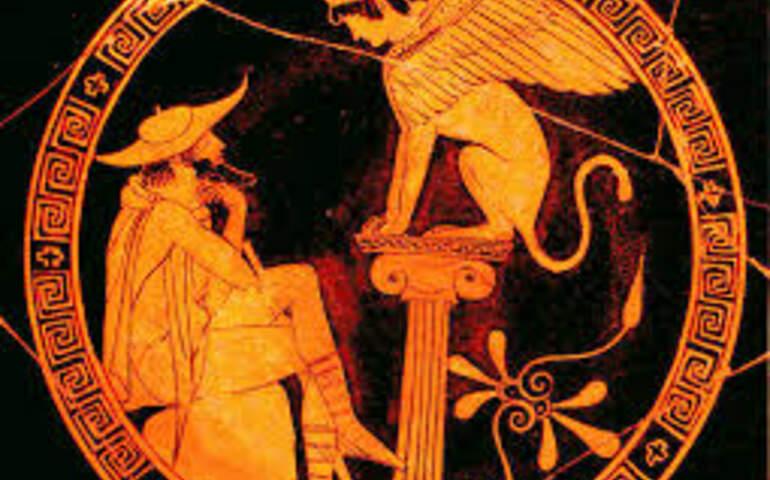 Oedipus Sphinks'in bilmecesine cevap verirken