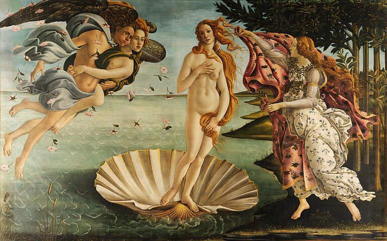 antik çağlara dair kadın mitosları tasviri